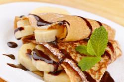 Блинчики бананово-шоколадные