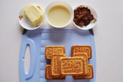Ингредиенты  для пирожного Картошка из печенья со сгущенным молоком