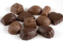 Шоколадные конфеты разных форм