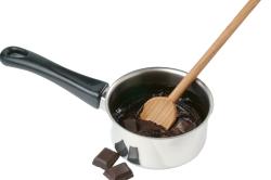 Процесс приготовления горячего шоколада