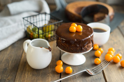 Десерт с шоколадным кремом