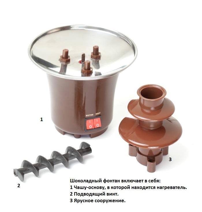 Инструкция к шоколадному фонтану