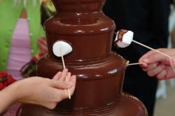 Использование зефира для шоколадного фонтана