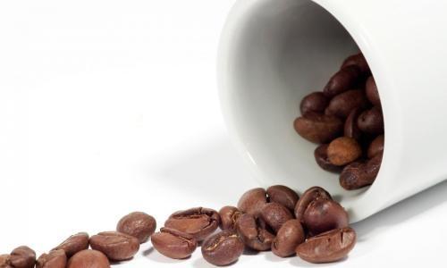 Кофейные зерна для приготовления шоколада