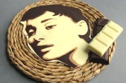 Готовый шоколадный портрет