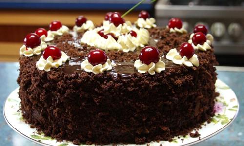 Торт Пьяная вишня с шоколадом