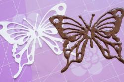 Изготовление бабочки по трафарету