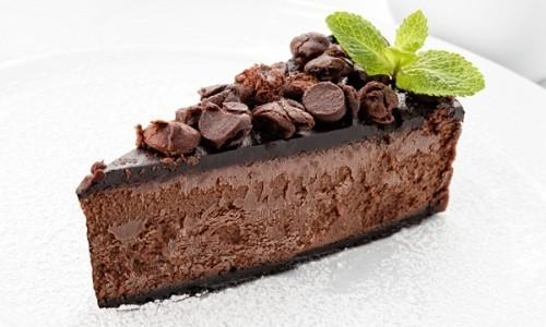 Вкусный шоколадный чизкейк