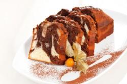 Мраморный кекс из какао
