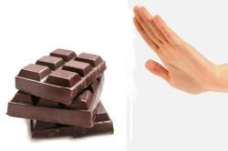 Отказ от шоколада при гастрите