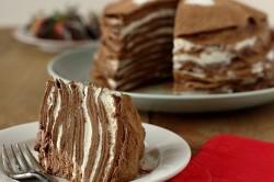 Шоколадный торт из блинов