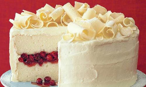 Воздушный торт с белым шоколадом
