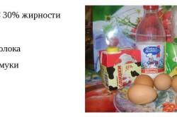 Ингредиенты для приготовления мороженого дома