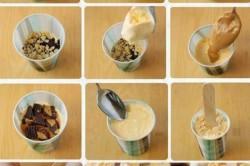 Приготовление слоеного мороженого