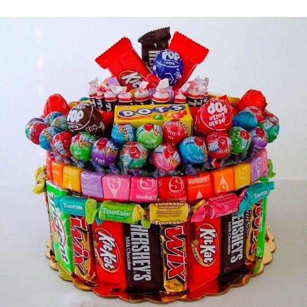 фото торт из шоколадок своими руками