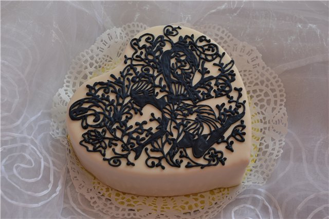Кружево на торт в домашних условиях 3