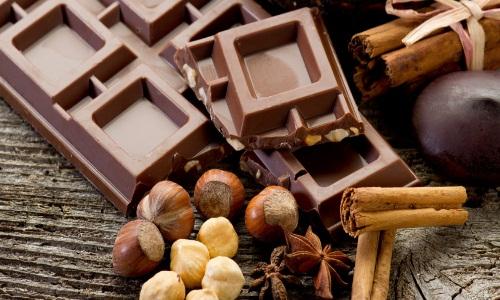 Высокая калорийность молочного шоколада с орехами