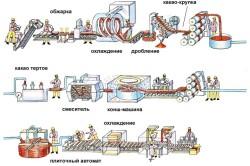 cykl proizvodstva shokolada 250x166 - Создание плитки шоколада и ее история