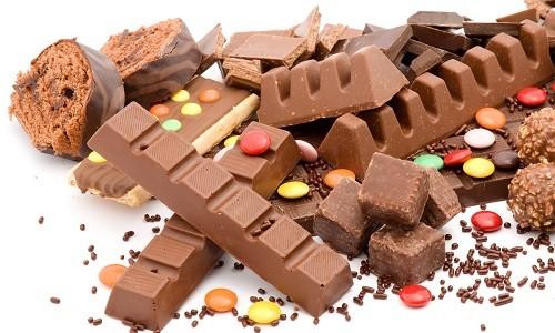 Шоколадные конфеты и плитки