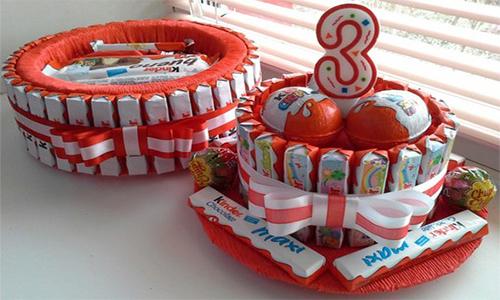 Тортик из батончиков Kinder