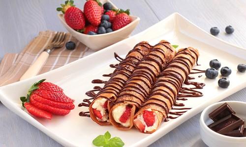 Как приготовить блинчики с шоколадом?