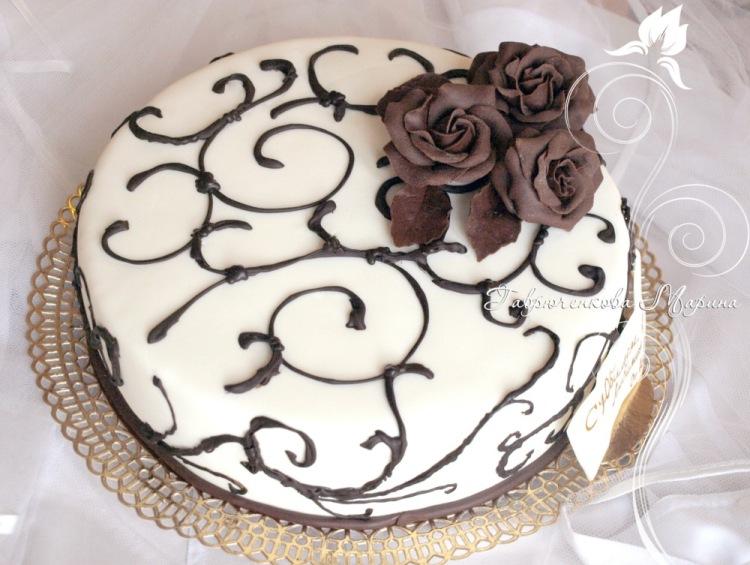 Как своими руками сделать украшения из шоколада для торта?