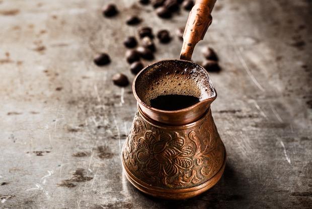 Кофе в турке на электрической плите