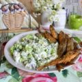 корюшка и салат