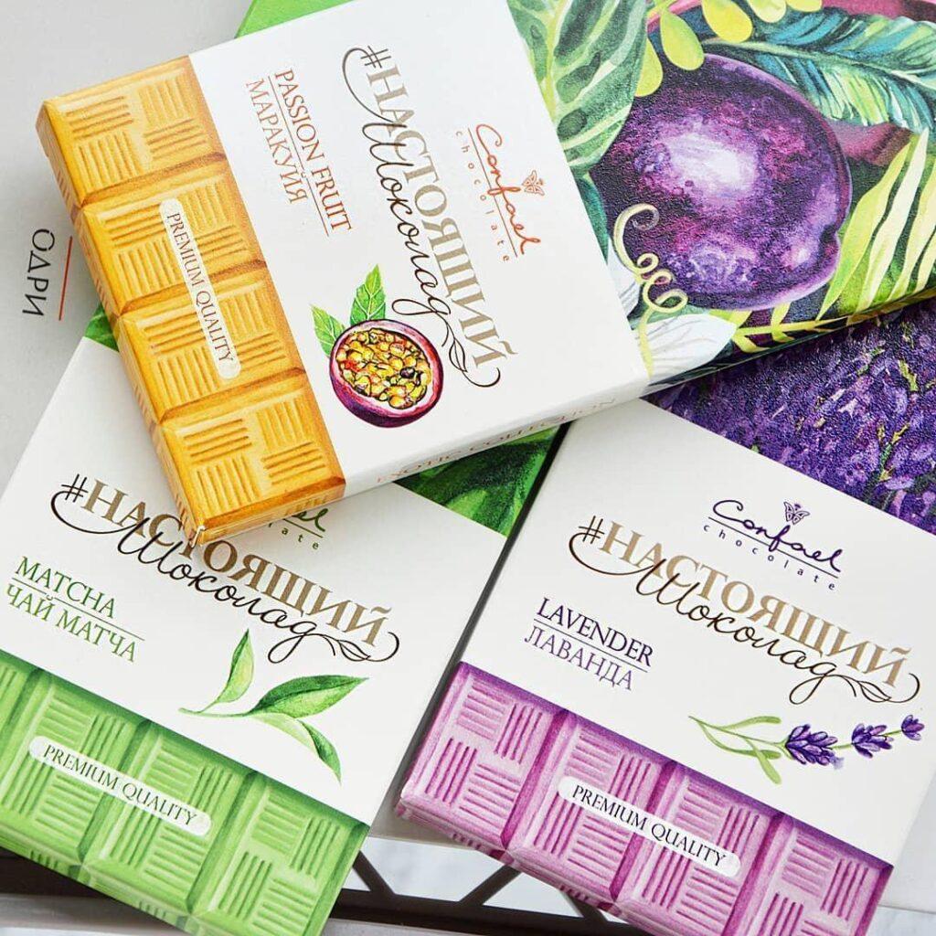 шоколад с экзотическими фруктами