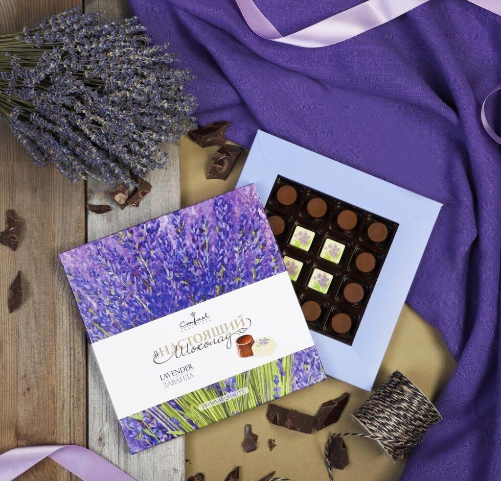 экзотический шоколад с лавандой